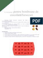 Forme Silicon Pentru Ciocolata