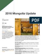 Mongolia Update