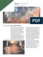 Fiche du Planetarium itinérant