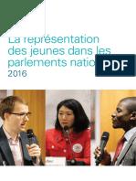 La représentation des jeunes dans les parlements nationaux 2016