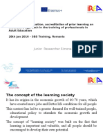 recognition evaluation accreditation of prior learning  sbs irea