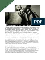 Greci Traci Zei Vindecatori