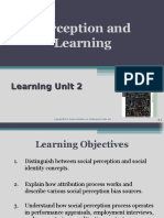Learning Unit 2 Perception and Learning