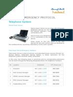 Telecom Emergency Protocol