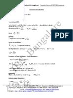 Formula Sheets ECE GATE ESE