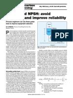 Pumps & NPSH-Avoid Problems