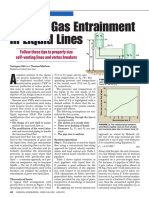 Reduce Gas Entrainment in Liquid Lines