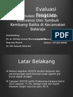 Evaluasi Program SDIDTK