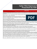 Cyber Risk Exposure Excel Scorecard