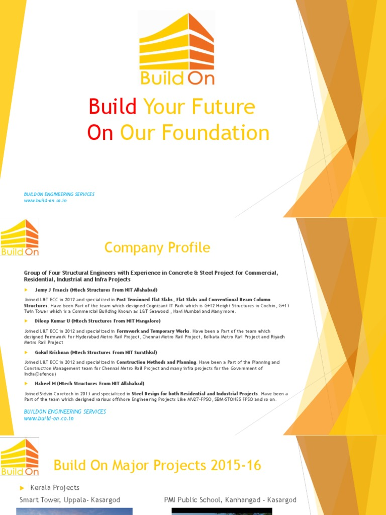 BuildOn Profile Presentation | Structural Steel | Beam (Structure)
