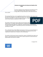 UNSC Statement on DRC