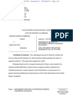 06-20-2016 ECF 741 USA v DAVID FRY - Motion to Suppress Evidence (Facebook Accounts)