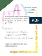 Revisão Técnica (correção gramatical e ortográfica & adequação às normas da ABNT