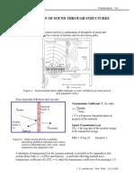 Sound Transmission Loss Formulas