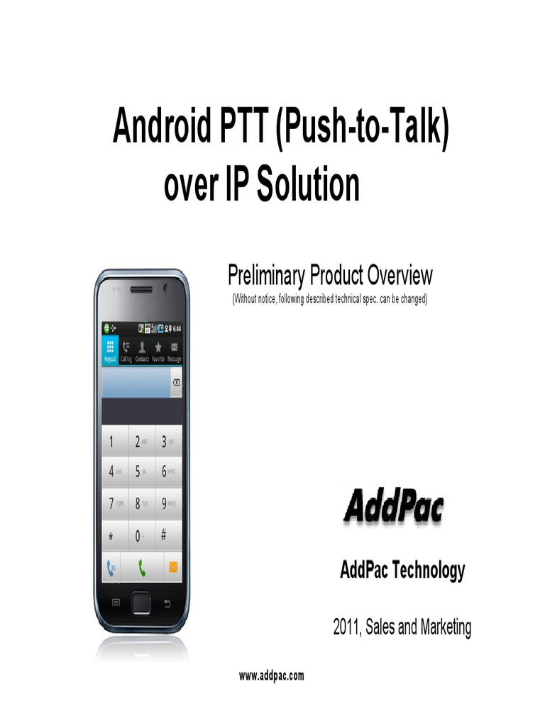 Android PTT | Wi Fi | Telephony