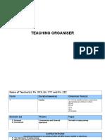 Teaching Organiser Sample 1