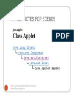 Applet Notes for Ece605