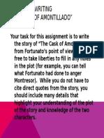cask of amontillado narrative writing assignment