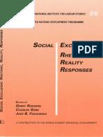 Social Exclusion Rhetoric Reality Responses
