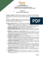 Reglamento de Ley Municipal 054 - De Alimentos para Mascotas