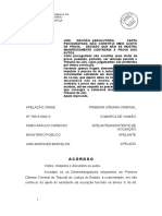 Acórdão - DECISÃO ABSOLUTÓRIA. CARTA PSICOGRAFADA NÃO CONSTITUI MEIO ILÍCITO DE PROVA