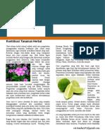 Brosur Tanaman Herbal
