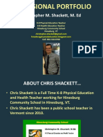 Chris Shackett Professional Portfolio
