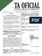 Gaceta Oficial No 40.966 del 15 de agosto de 2016