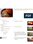 Cazuela de Pollo Encebollado Al Limon Receta de Alexis Urrutia - Cookpad