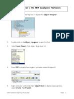 Ex 1 ABAP Dev WorkBench