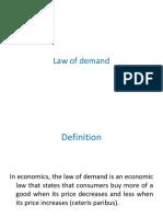 Law of Demand In Economics