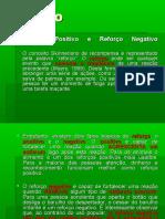 PSICOLOGIA I - Esquemas de Reforço