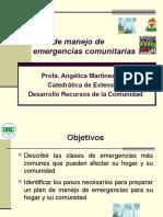 Plan de Manejo de Emergencias Comunitarias Angie