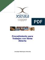 An SP SGI ALL 0019 Procedimiento Trabajos Llama Abierta