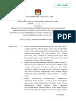 6 Template SK Rekapitulasi Dpt Pemilu Terkhir KIP Aceh Salinan
