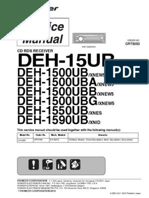 pioneer deh 15ub deh 1500ub deh 1500uba deh 1500ubb deh Pioneer Deh 15ub Wiring Diagram car stereo pioneer deh