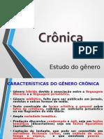 CRÔNICA - Estudo Do Gênero