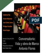 Conversatorio Marco Antonio Flores