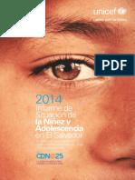 Situacion Nines y Adolescentes 2014 EL SALVADOR