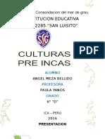 Culturas Pre Inca, Imperio Tahuantinsuyo y Virreynato