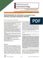 Biomarcadores Utiles de Activacion Enf Autoinmunes Con VHC WJG 2014