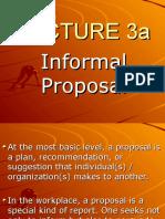 Lecture 7-Informal Proposal