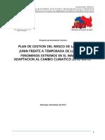 Plan Lluvias Diresa Junin 2012 2013