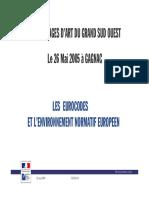 Point Sur La Publication Des Eurocodes