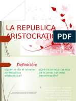 La Republica Aristocratica