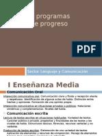 Planes y Programas y Mapas de Progreso