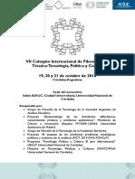 3er Llamado VII CFdT 2016-2