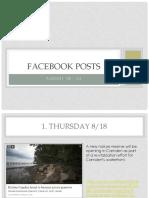august 18 - august 24 facebook posts