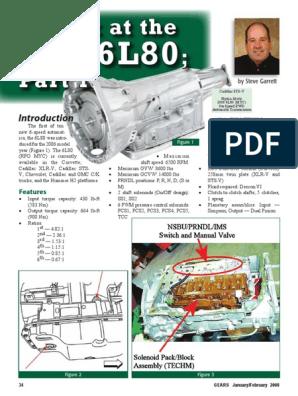 GM 6L-80 pdf | Clutch | Automatic Transmission