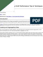 Oracle Database 10g OLAP Performance Tip1